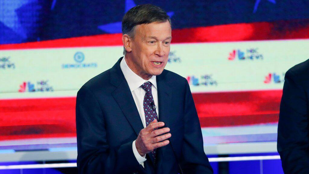 Mandatory Credit: Photo by Wilfredo Lee/AP/Shutterstock (10324133b)Democratic presidential candidate former Colorado Gov.