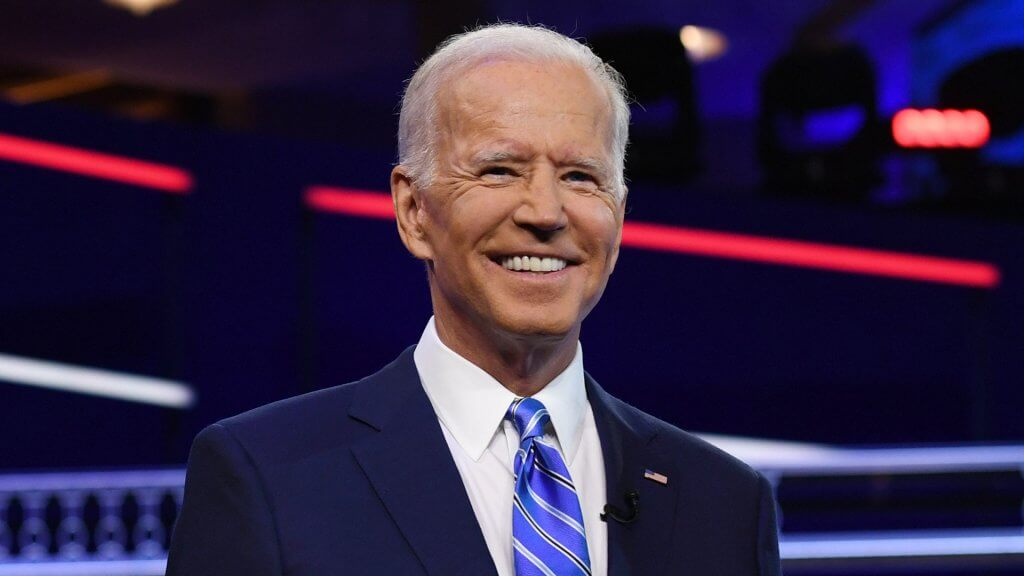 ALL NEW YORK DAILIES OUT Mandatory Credit: Photo by Larry Marano/Shutterstock (10323445az) Joe Biden First Democratic Presidential Debate, Miami, USA - 27 Jun 2019.
