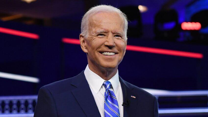 ALL NEW YORK DAILIES OUTMandatory Credit: Photo by Larry Marano/Shutterstock (10323445az)Joe BidenFirst Democratic Presidential Debate, Miami, USA - 27 Jun 2019.