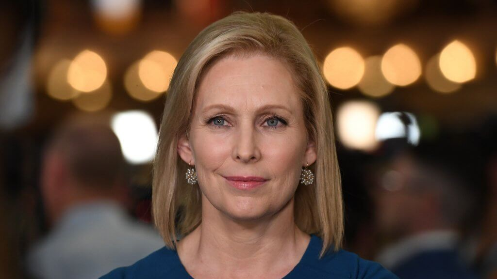 ALL NEW YORK DAILIES OUT Mandatory Credit: Photo by Larry Marano/Shutterstock (10323445bi) Senator Kirsten Gillibrand First Democratic Presidential Debate, Miami, USA - 27 Jun 2019.