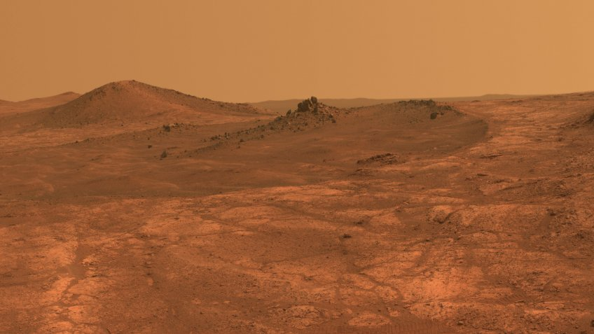 Mars surface from NASA Space Mars rover