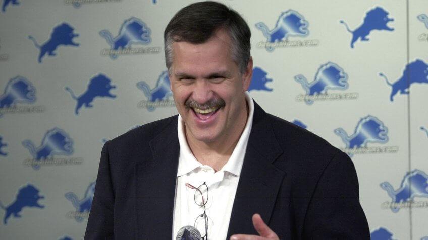 Matt Millen Detroit Lions president highest paid athlete