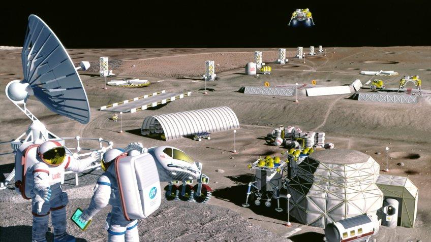 NASA moon colony