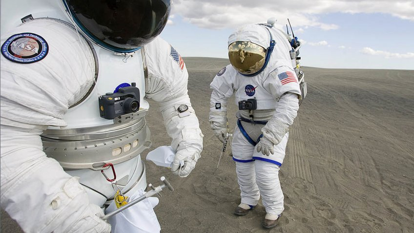 NASA space suit testing in the desert