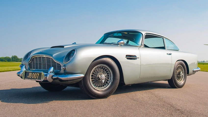 Mandatory Credit: Photo by Rm Auctions/Solent News/Shutterstock (1229029d)The original 1964 Aston Martin DB5 driven by Sean Connery in the films 'Goldfinger' and 'Thunderball'Original James Bond 1964 Aston Martin DB5 movie car to be sold, London, Britain - 29 Sep 2010James Bond fans are being left shaken and stirred by the news that a James Bond Aston Martin driven by Sean Connery is coming up for sale.