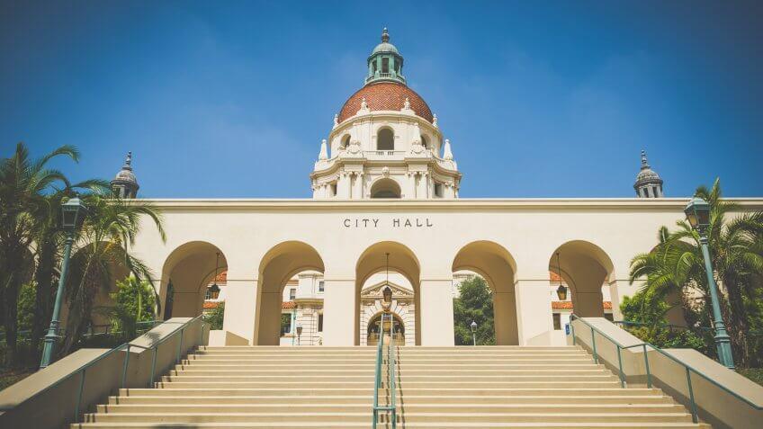City hall at Pasadena, California.