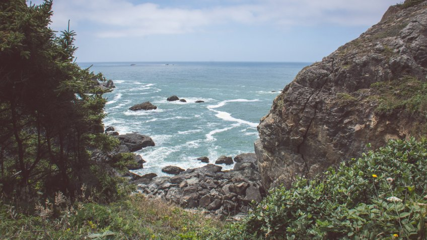 Patricks Point State Park and Pacific Ocean