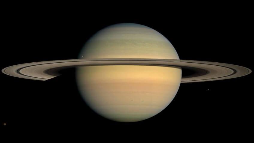 Planet Saturn from Cassini spacecraft