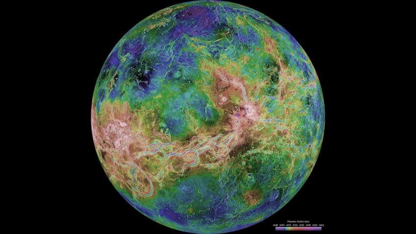 Planet Venus from NASA Magellan Program
