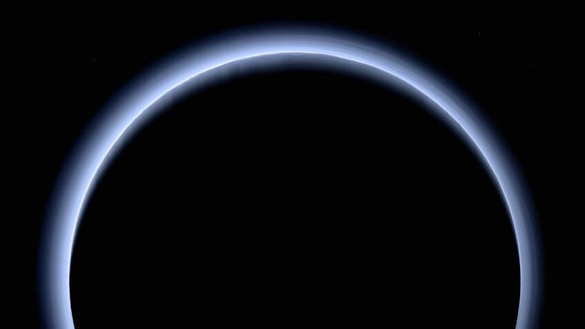 Pluto dwarf planet from New Horizons spacecraft