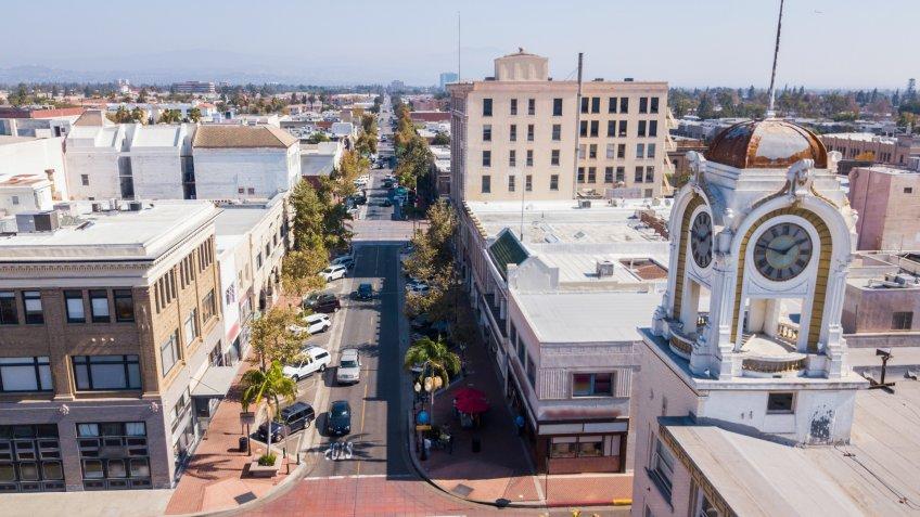 View of Santa Ana, California.