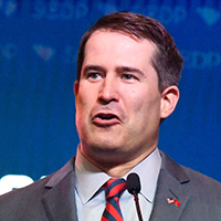 Mandatory Credit: Photo by Meg Kinnard/AP/Shutterstock (10319224z) Massachusetts Congressman Seth Moulton addresses the South Carolina Democratic Party convention, in Columbia, S.