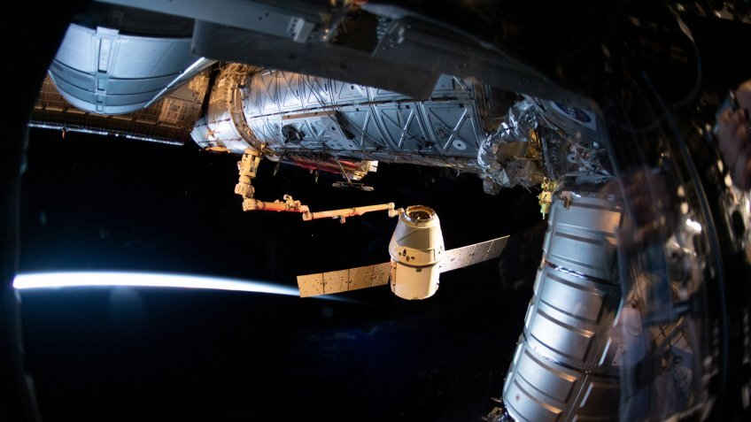 SpaceX Dragon docked on International Space Station