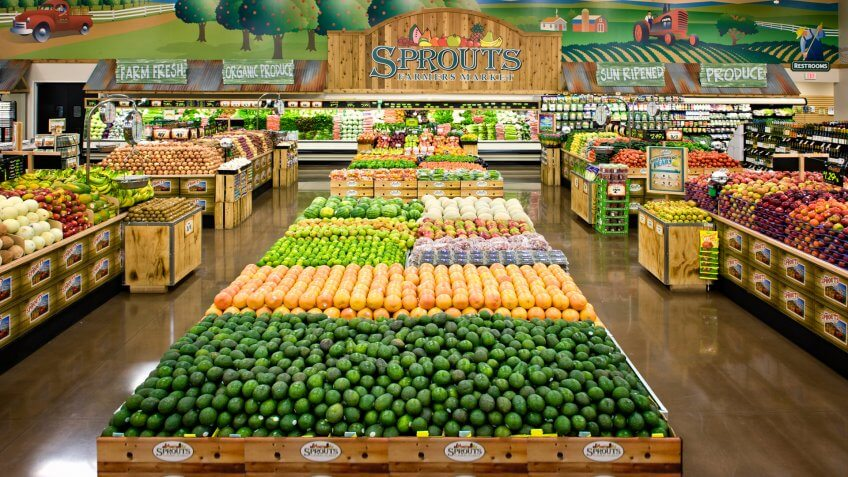 Produce section in Sprouts grocery store