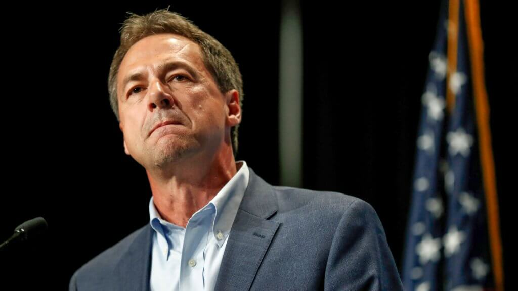 Mandatory Credit: Photo by Charlie Neibergall/AP/Shutterstock (10315504a) Democratic presidential candidate Steve Bullock speaks during the Iowa Democratic Party's Hall of Fame Celebration in Cedar Rapids, Iowa.
