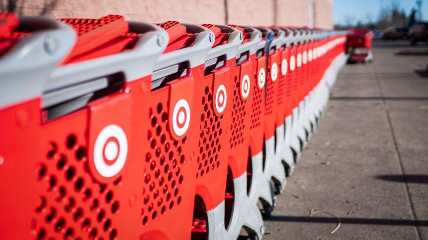 Target store shopping carts