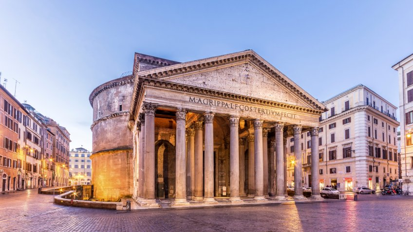 The Roman Pantheon is the most preserved and influential building of ancient Rome.