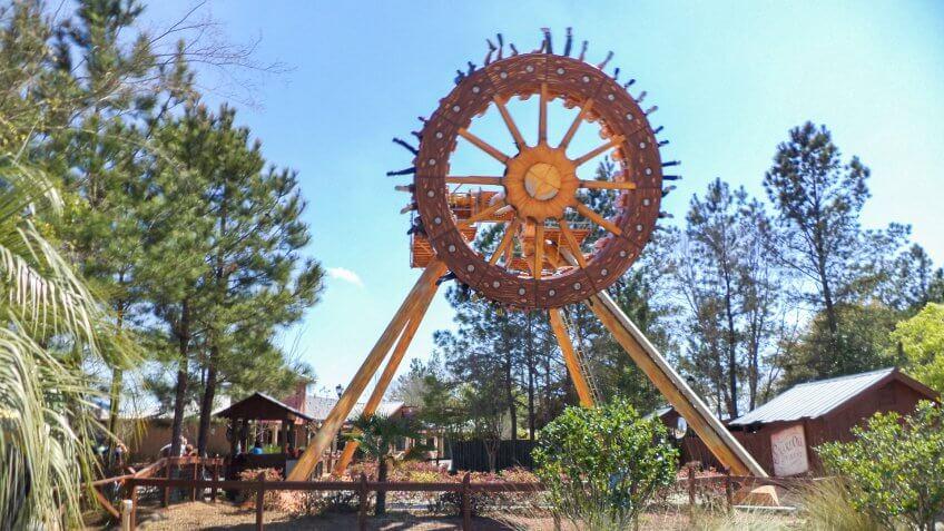The Rattler at Wild Adventures Theme Park in Valdosta Georgia