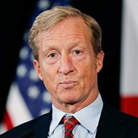 Mandatory Credit: Photo by Charlie Neibergall/AP/Shutterstock (10052758x)Billionaire investor and Democratic activist Tom Steyer speaks during a news conference where he announced his decision not to seek the 2020 Democratic presidential nomination, at the Statehouse in Des Moines, IowaElection 2020 Tom Steyer, Des Moines, USA - 09 Jan 2019.