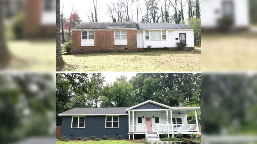 home flip before and after exterior renovation
