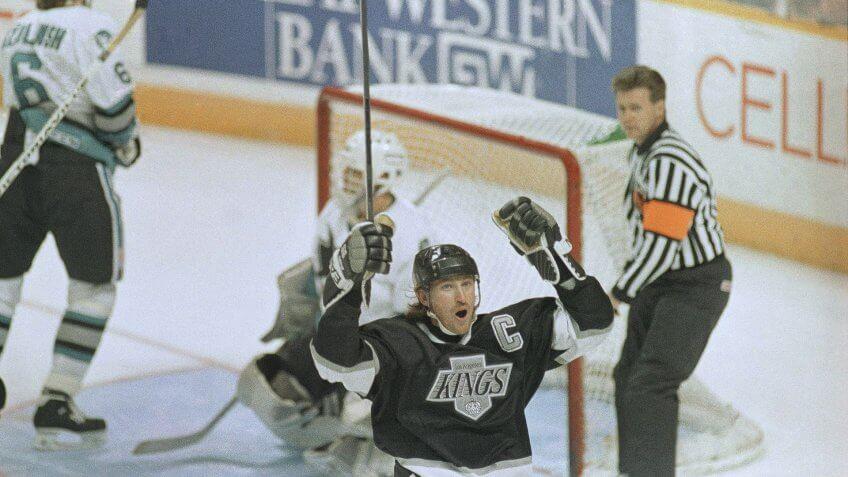 Wayne Gretzky Los Angeles Kings highest paid athlete