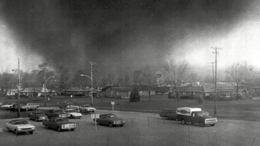 Xenia Ohio Tornado funnel