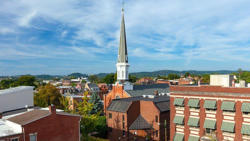 York, Pennsylvania during the day.