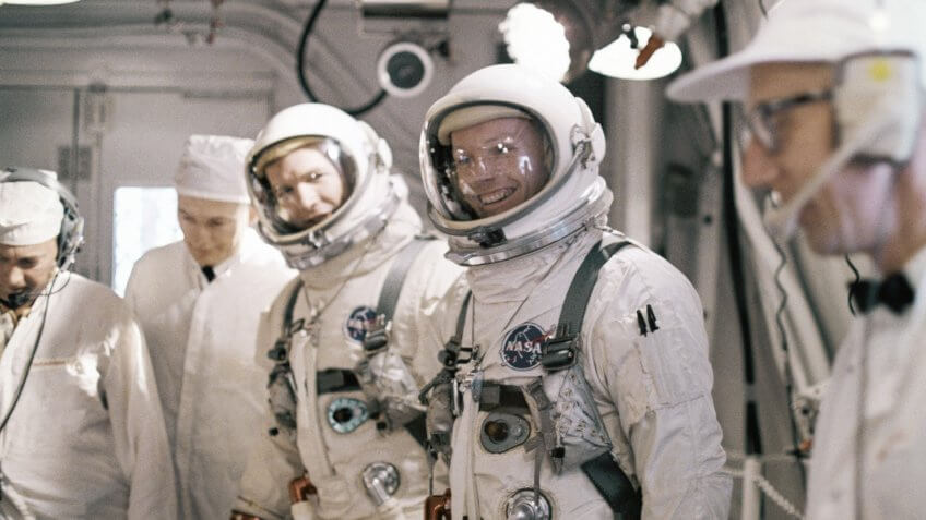 astronauts Neil Armstrong and David R. Scott simulated test