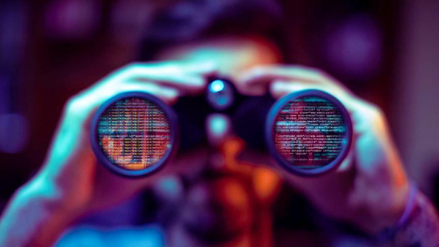 Hacker spy your data file.