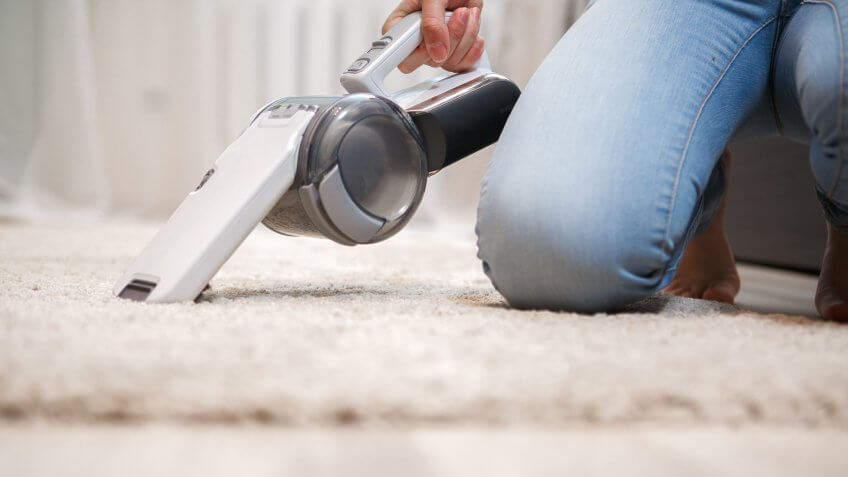 Cordless handheld vacuum cleaner irreplaceable assistant in the house.