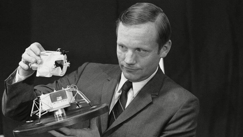 former astronaut Neil Armstrong executive of NASA net worth