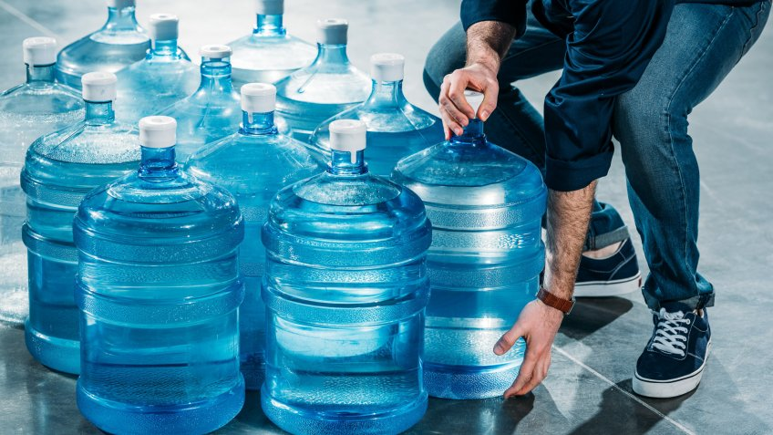 gallons of jugs of water