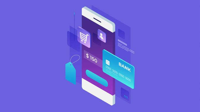 Concept of online shop, online shopping.