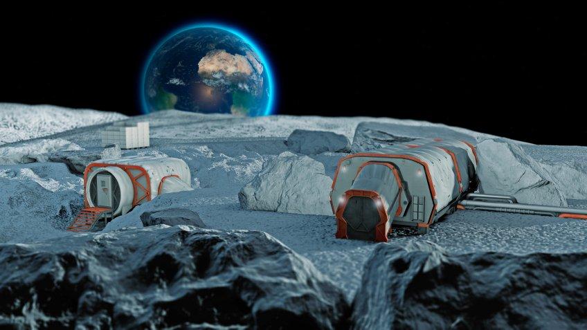 Lunar base, spatial outpost.