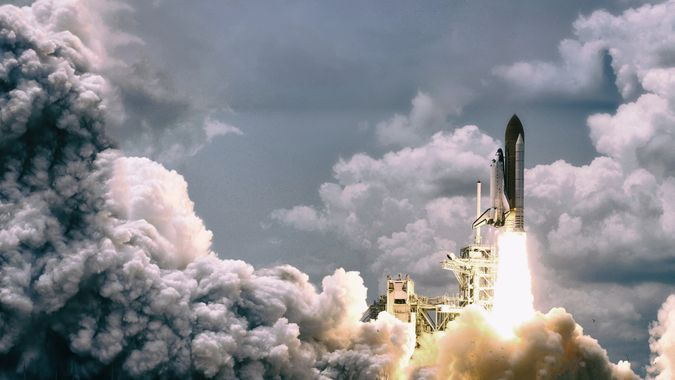 spaceship launch from NASA