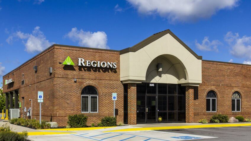 Indianapolis - Circa September 2016: Regions Financial Corporation.