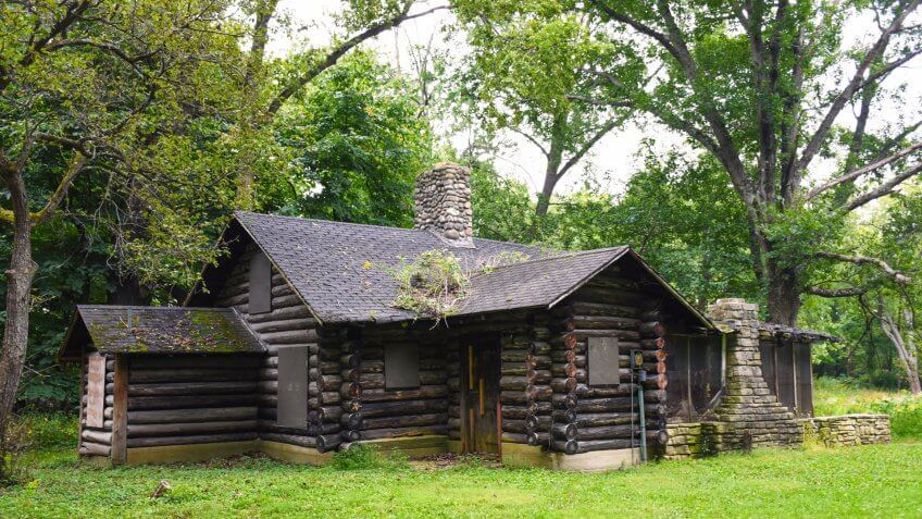 old cottage at Edward Ryerson Conservation centre, Buffalo Grove, Illinois - Image.