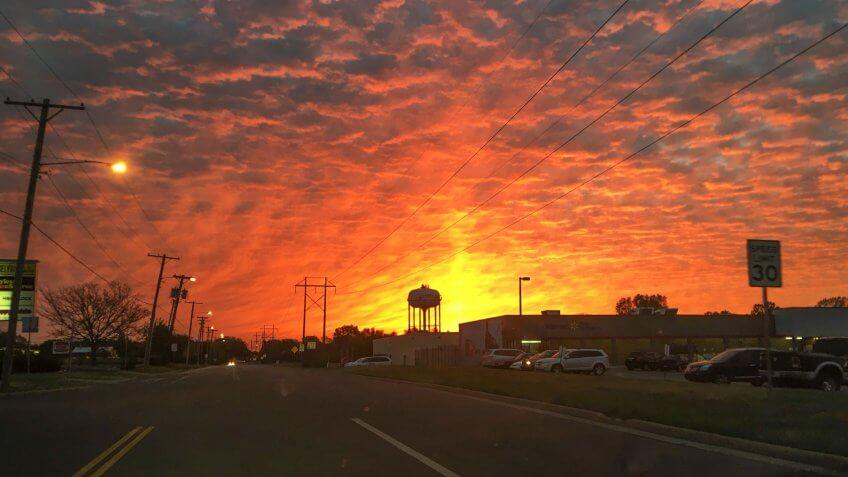 Derby, Kansas Sunset - Image.