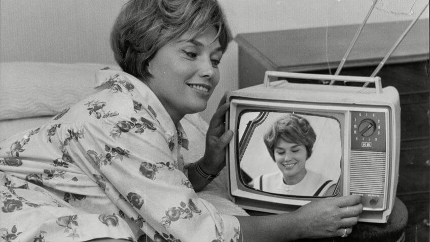 portable television set