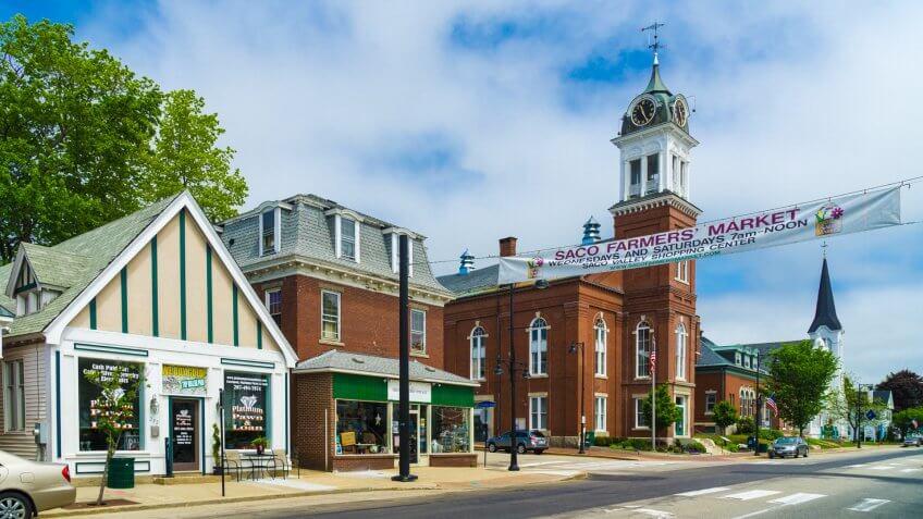 Main Street, Saco Maine.