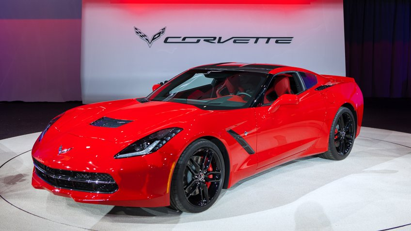 DETROIT - JANUARY 14 : The 2014 Chevrolet Corvette Stingray on display at The North American International Auto Show January 14, 2013 in Detroit, Michigan.