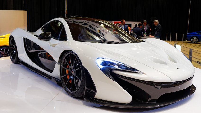 TORONTO-FEBRUARY 14: The all New exotic McLaren P1 at the 2014 Canadian International Auto Show on February 14, 2014 in Toronto - Image.