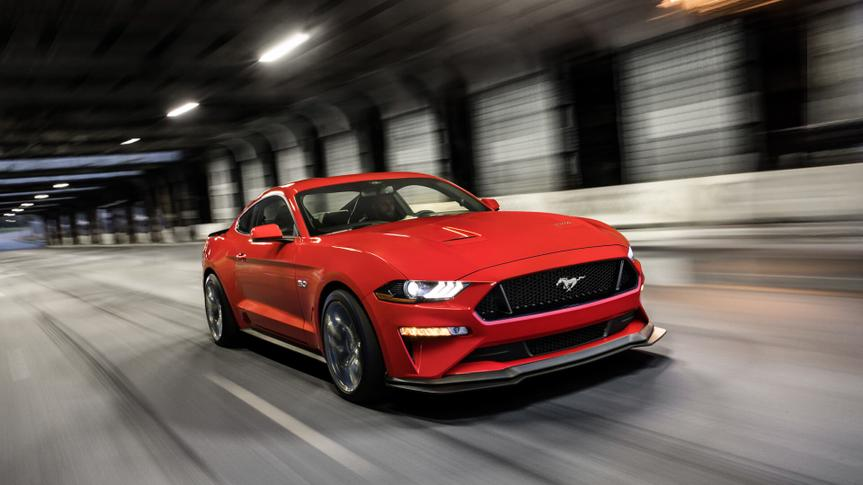 2019 Ford Mustang ecoboost premium fastback race red.