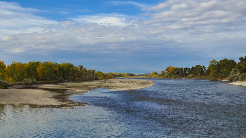 Yellowstone River in Laurel, Montana.