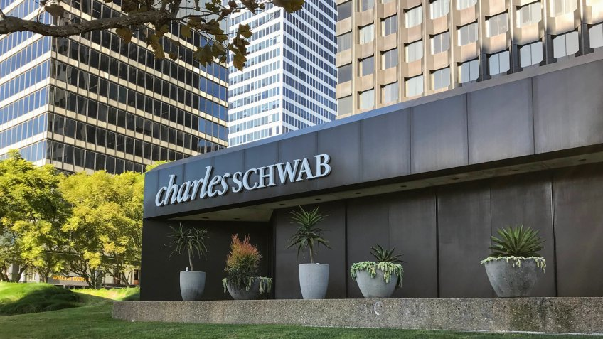 LOS ANGELES, Oct 31, 2018: Exterior of the Charles Schwab financial services offices in Century City, California.