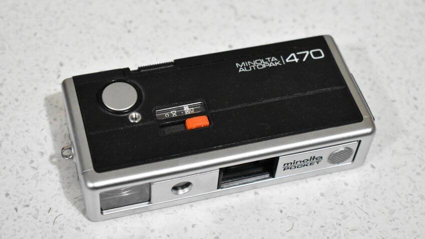 Minolta Autopak 470 pocket camera