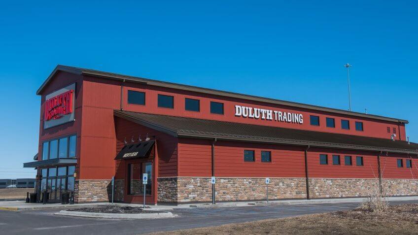 Duluth Trading Company store at 2261 Rustad Lane East, West Fargo, North Dakota.