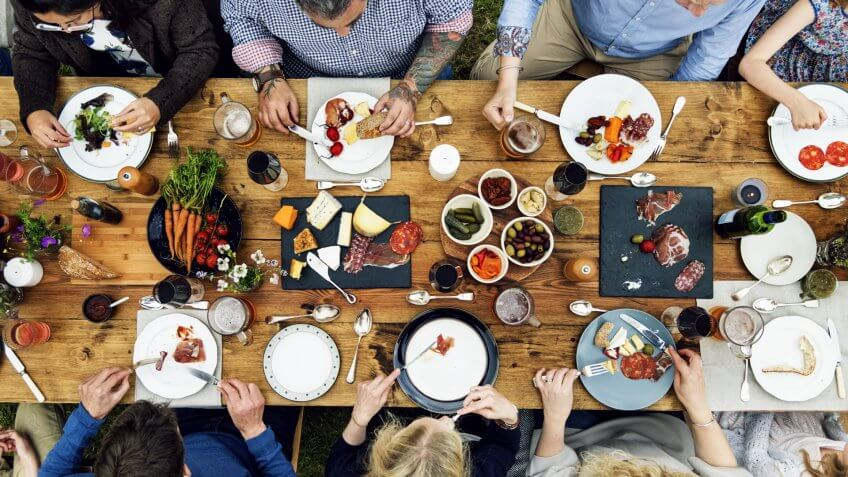 Group Of People Dining Concept - Image.