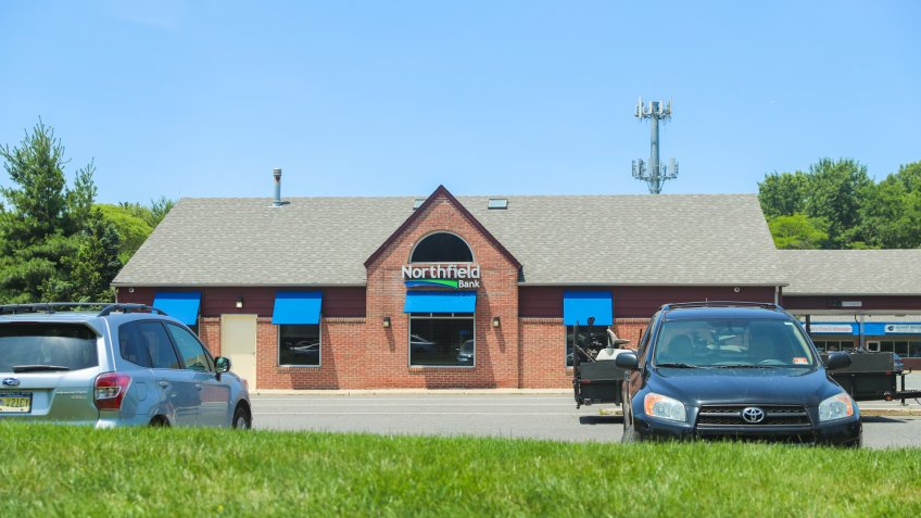 Princeton New Jersey - June 23, 2019: Northfield Bank in New Jersey - Image - Image.