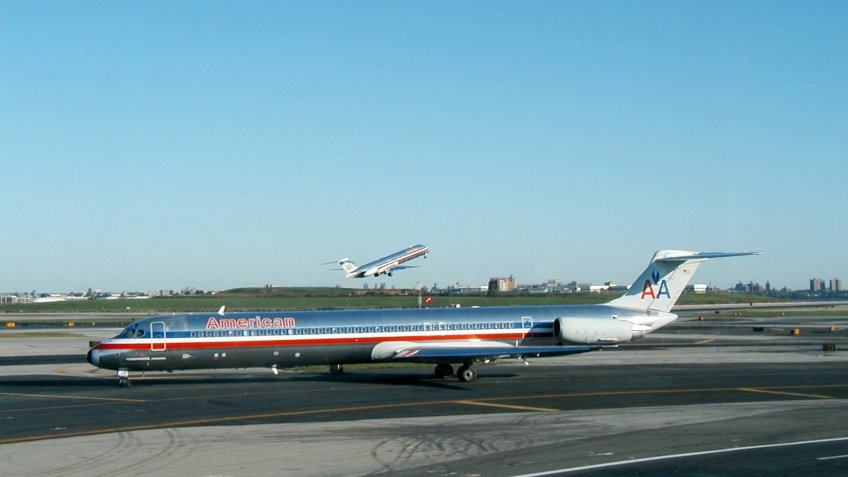 American Airlines planes at LaGuardia Airport in New York